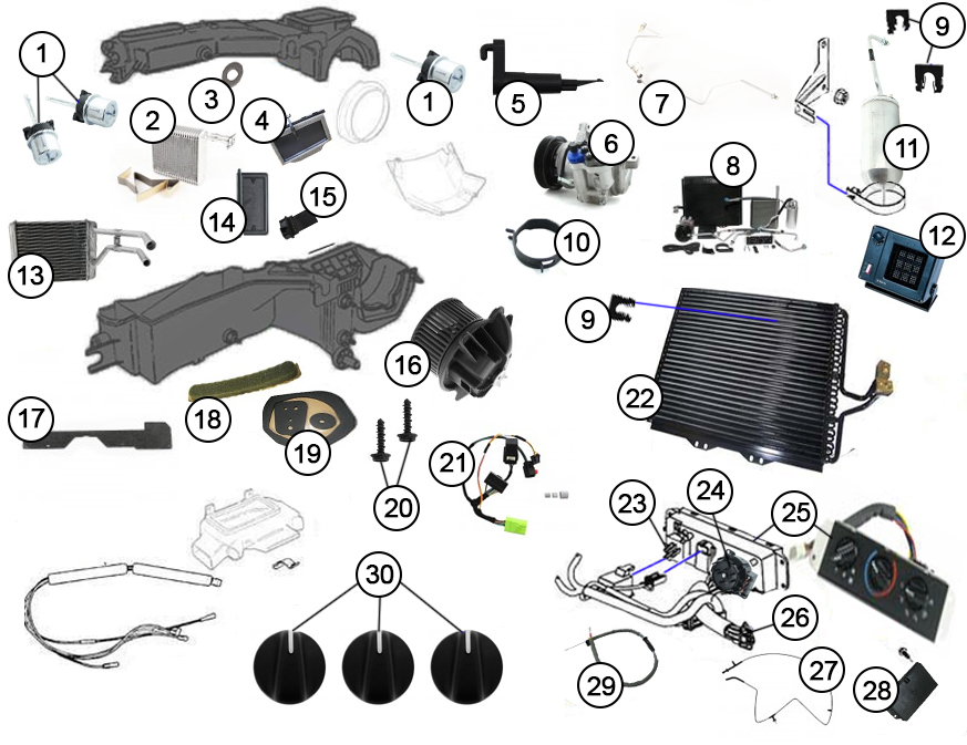 Diagrams For Jeep A C Parts 1997 2006 Jeep Wrangler TJ