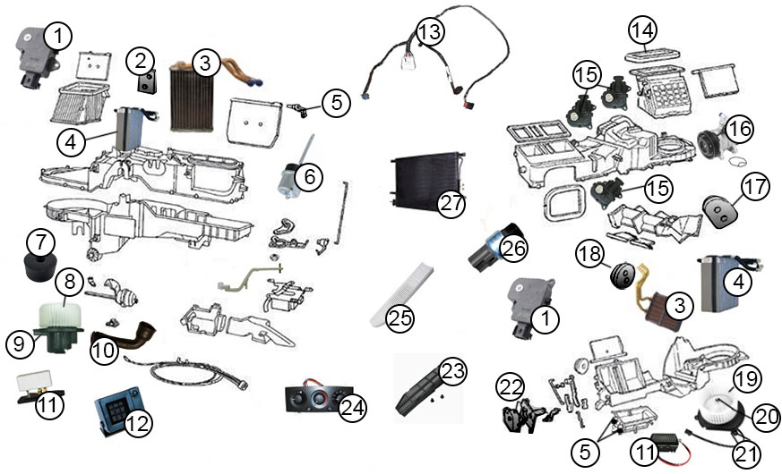 2004 grand cherokee parts diagram diagrams :: air conditioning parts :: a/c diagram for 1999 ... 2004 grand cherokee vacuum diagram
