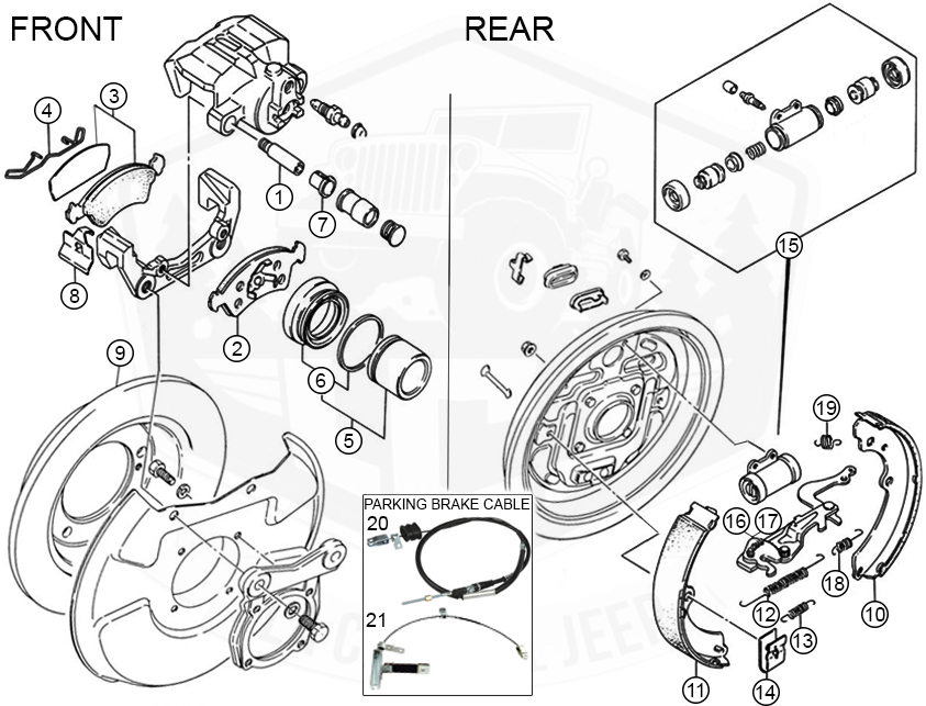 Diagrams For Suzuki Brake Parts