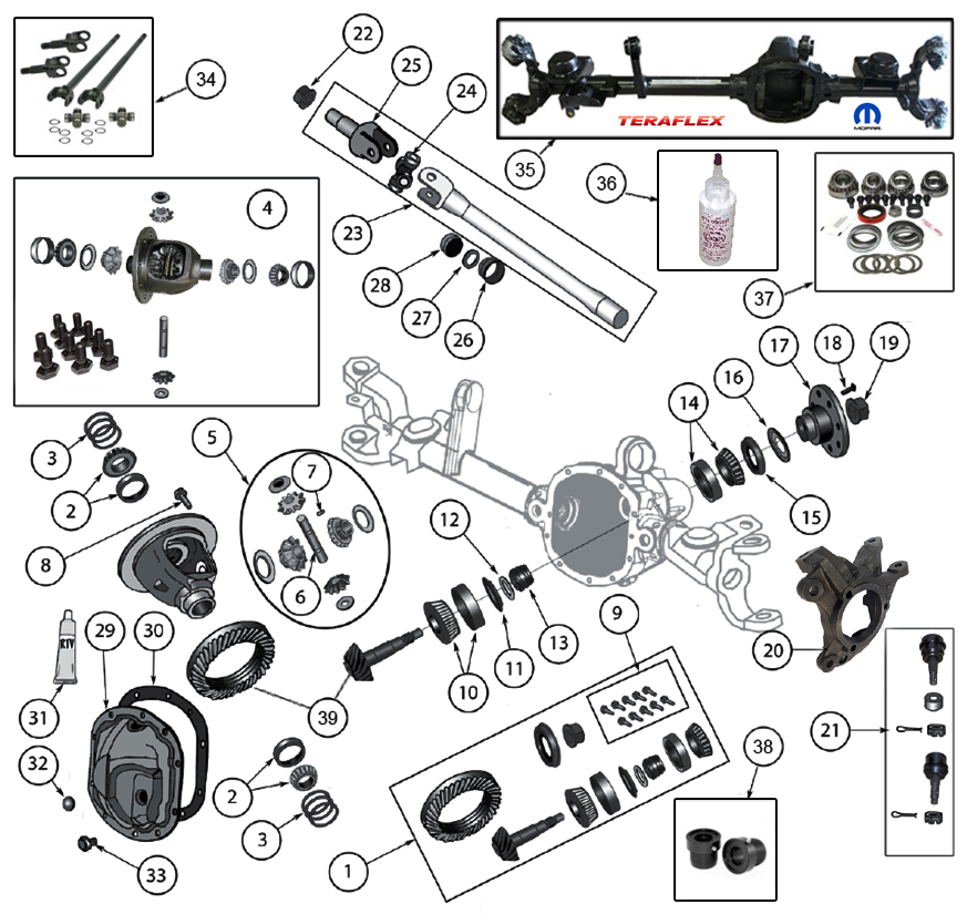 Diagrams For Jeep    Axle  U0026 Differential    Model 30 Front