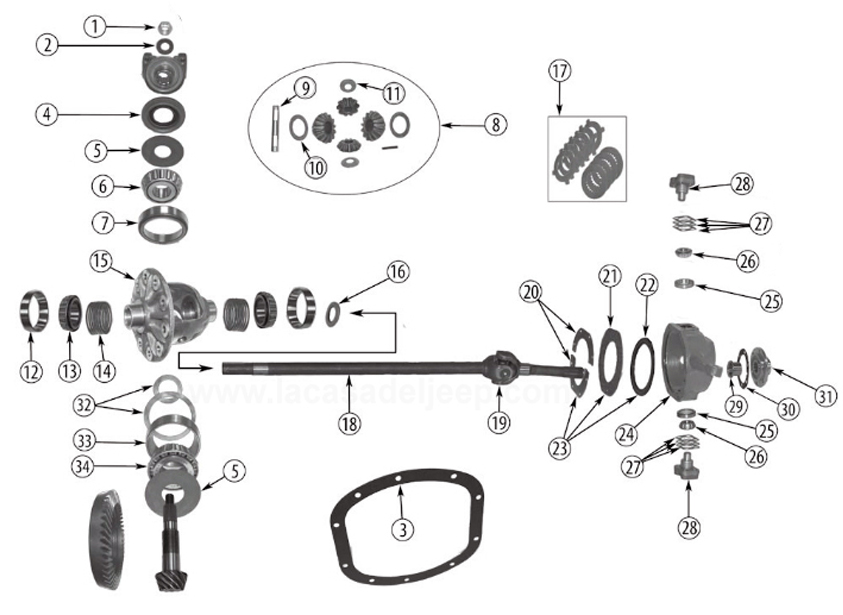 front axle diagram for dana 25  27 vintage