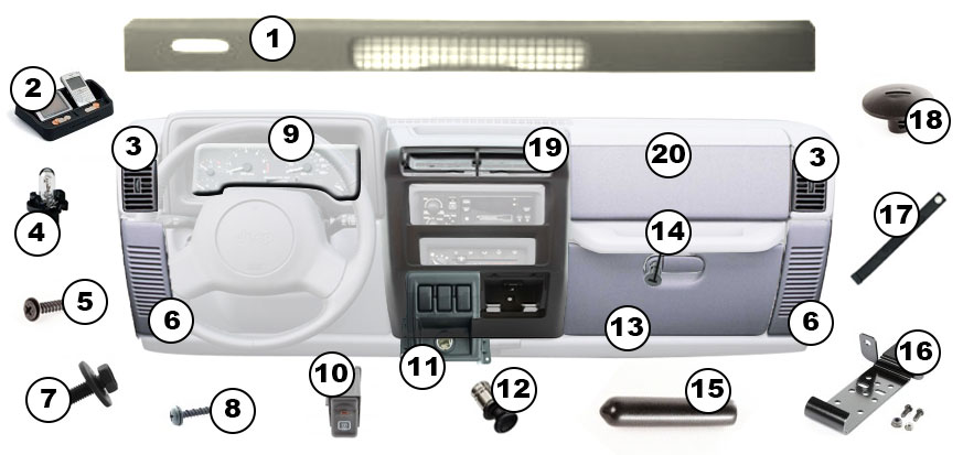 Dash Diagram For Jeep Wrangler Tj  1997