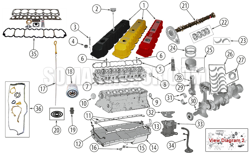 Engine Diagram for 4.0 L (242) AMC Enginesomarmotor.com