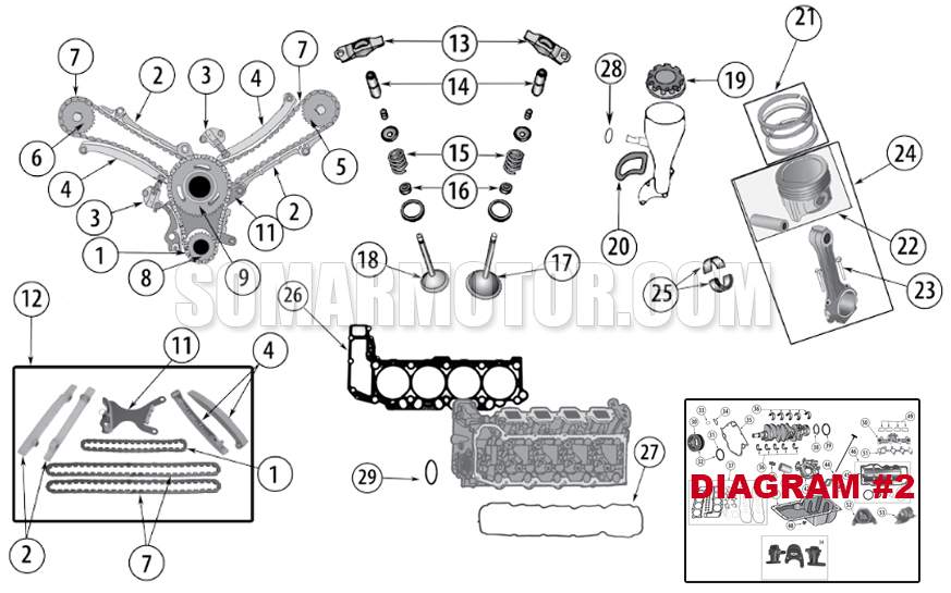 Engine Diagram for 4.7L Engine | 2005 Jeep Grand Cherokee Engine Diagram |  | Jeep Parts & Jeep Accessories by The House of Jeep