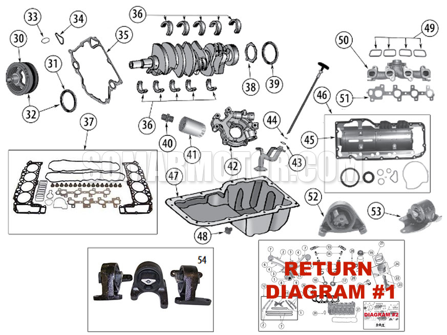 [DIAGRAM_0HG]  Engine Diagram for 4.7L Engine (Continued) | 2006 Jeep Cherokee Engine Diagram |  | somarmotor.com