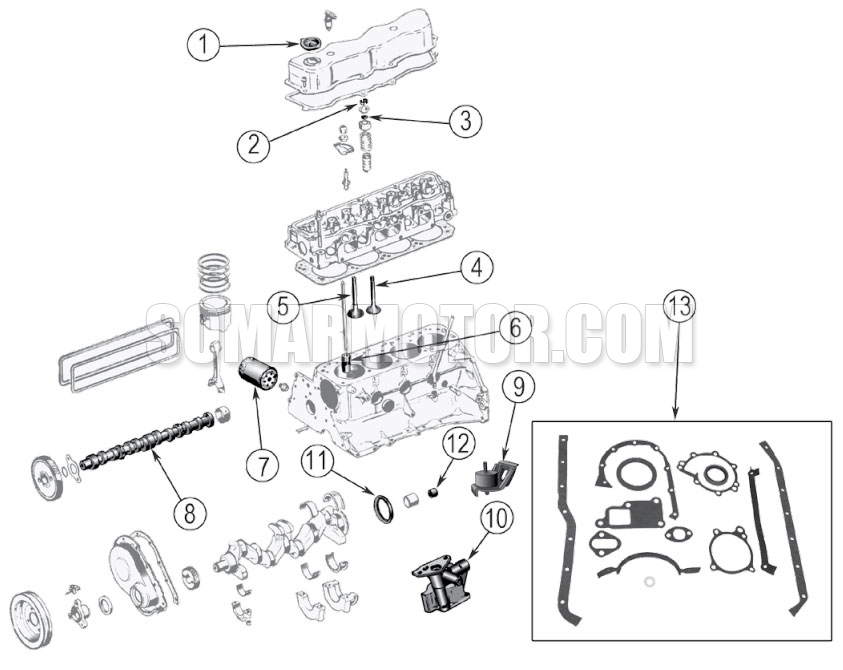 engine diagram for gm 2.5l (4-151) engine  somarmotor.com