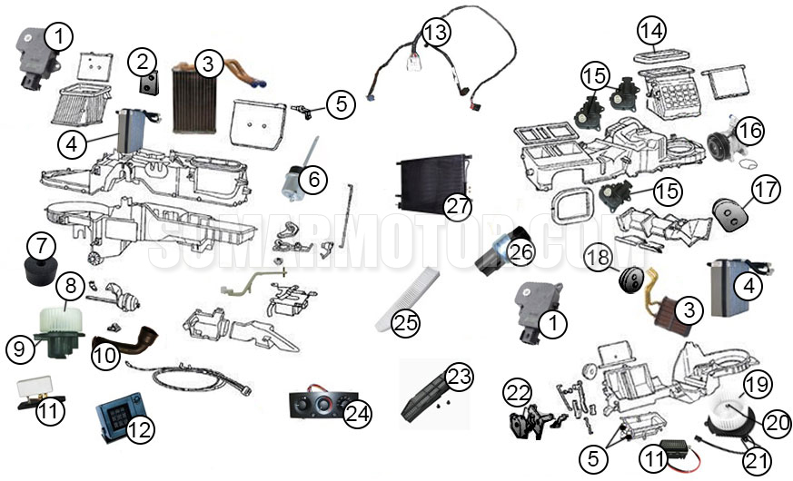 2009 jeep grand cherokee engine diagram diagrams air conditioning parts a c diagram for 1999 2004  diagrams air conditioning parts a
