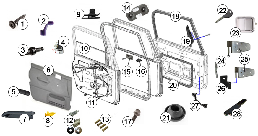 jeep wrangler tj (1997-2006) (full door)
