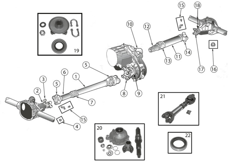Diagrams For Jeep    Driveshafts Parts    Wrangler Yj