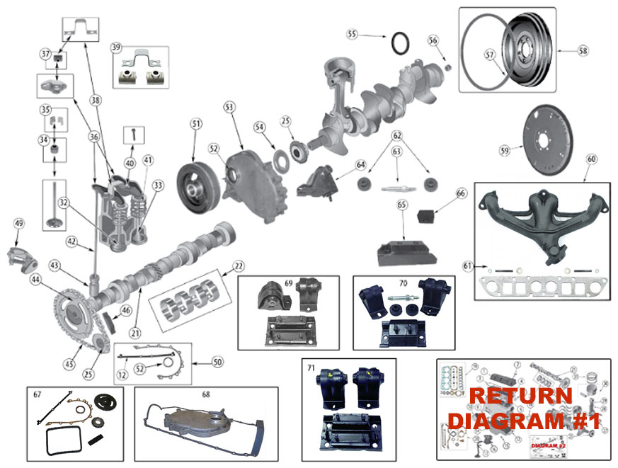 Diagrams For Jeep    Engine Parts    2 5l Engine    2 5l Engine  Continued