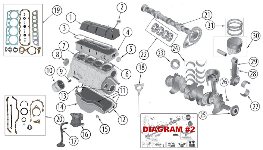 Diagrams    For    Jeep       Engine Parts       2      5L    Engine