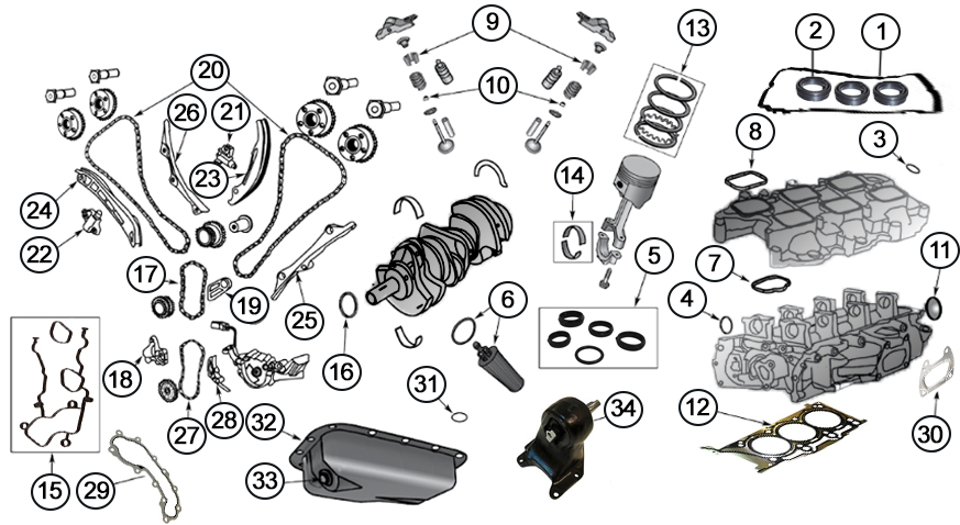Diagrams For Jeep    Engine Parts    3 6l Engine
