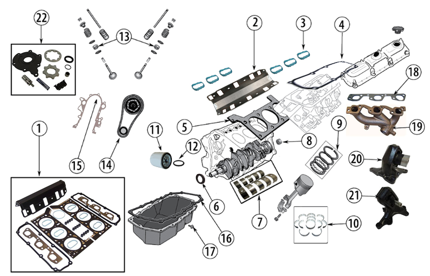 Diagrams For Jeep    Engine Parts    3 8l Engine