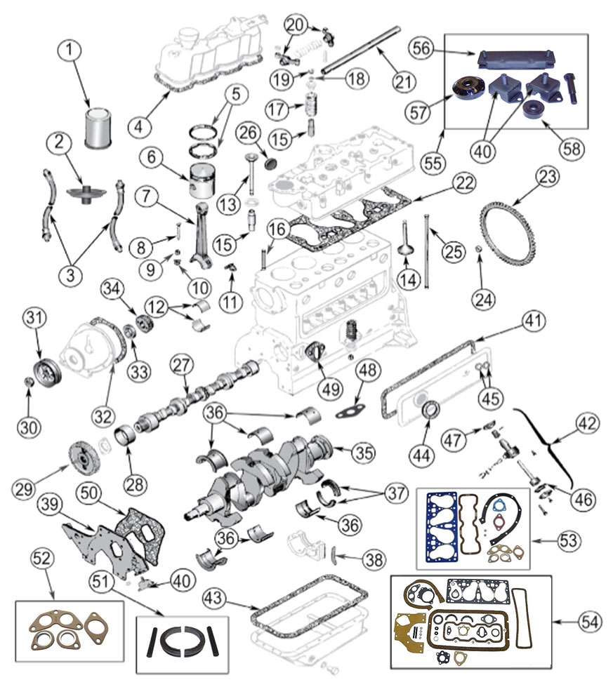 Diagrams For Jeep Engine Parts 4 134 F Head Hurricane Fc 150 Wiring System
