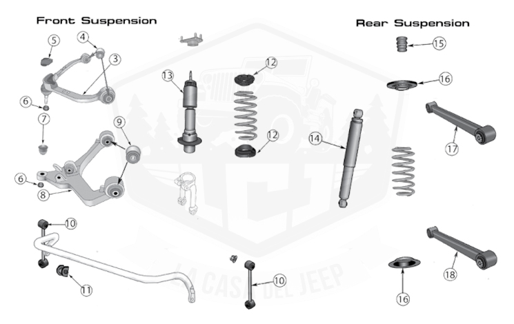 diagrams for jeep    suspension parts    liberty kk  2008