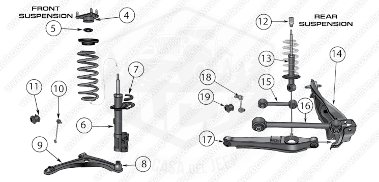 diagrams for jeep    suspension parts    compass  u0026 patriot