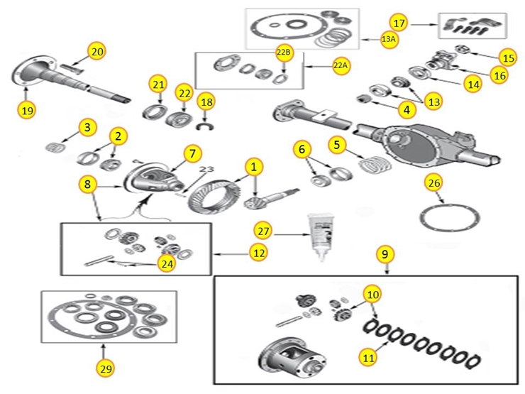 Diagrams For Jeep Axle Differential Model 35 Rear. Wrangler Yj 19871995 Dana 35. Jeep. 1995 Jeep Wrangler Rear Axle Diagram At Scoala.co