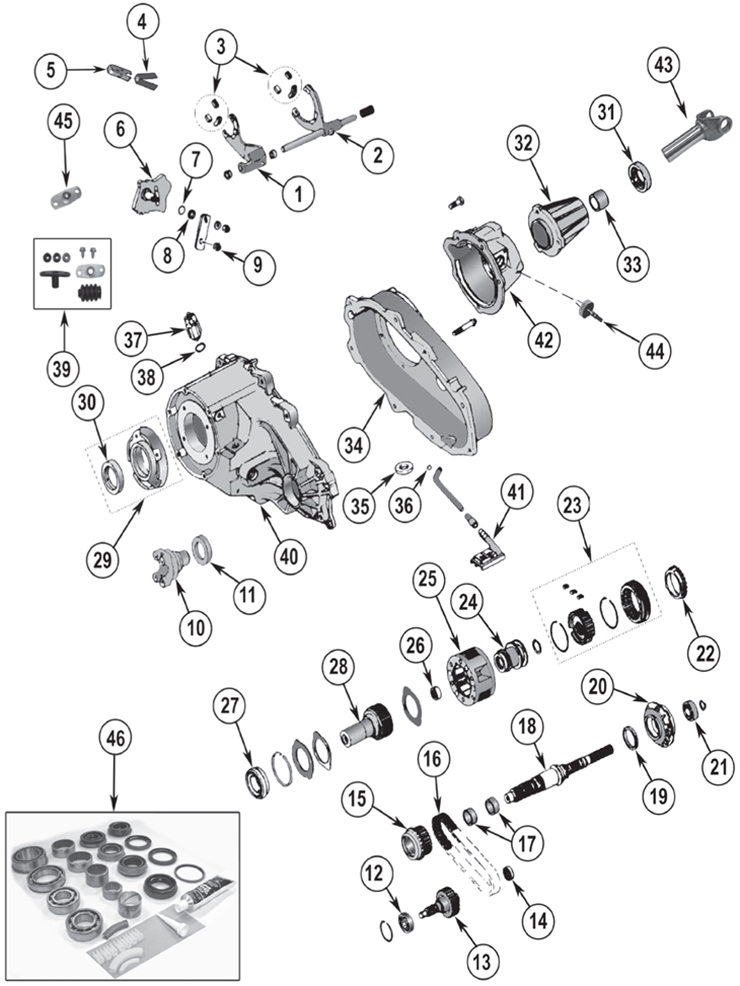 Diagrams For Jeep Transfer Parts Np 231 Transfer Case