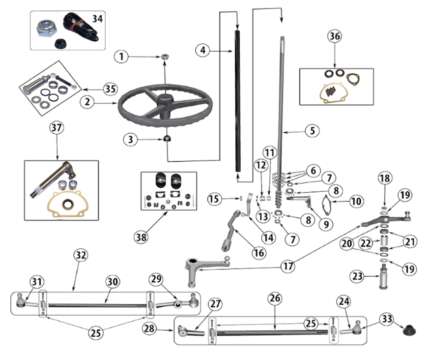 cj jeep steering parts diagram  u2022 wiring diagram for free