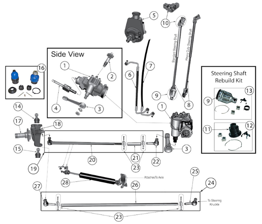 1973 vw thing steering column wiring diagram diagrams for jeep :: steering parts :: jeep cj (1976-1986) #14