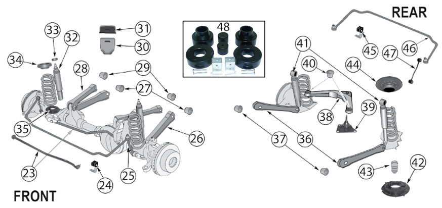 Diagrams For Jeep    Suspension Parts    Grand Cherokee Wj