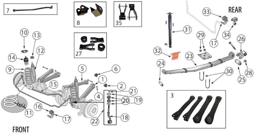 1991 jeep xj suspension diagram