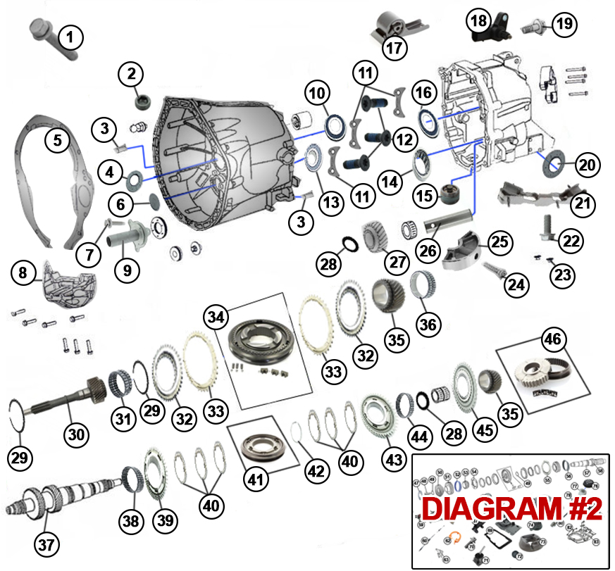diagrams for jeep    transmission parts    transmission