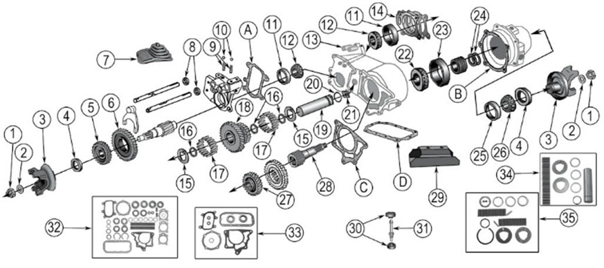 transfer diagram for dana 20 transfer case vintage  jeep parts & jeep accessories by the house of jeep