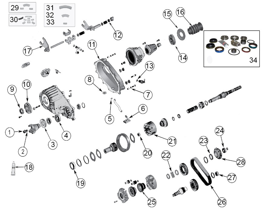 Diagrams For Jeep    Transfer Parts    Np 242 Transfer