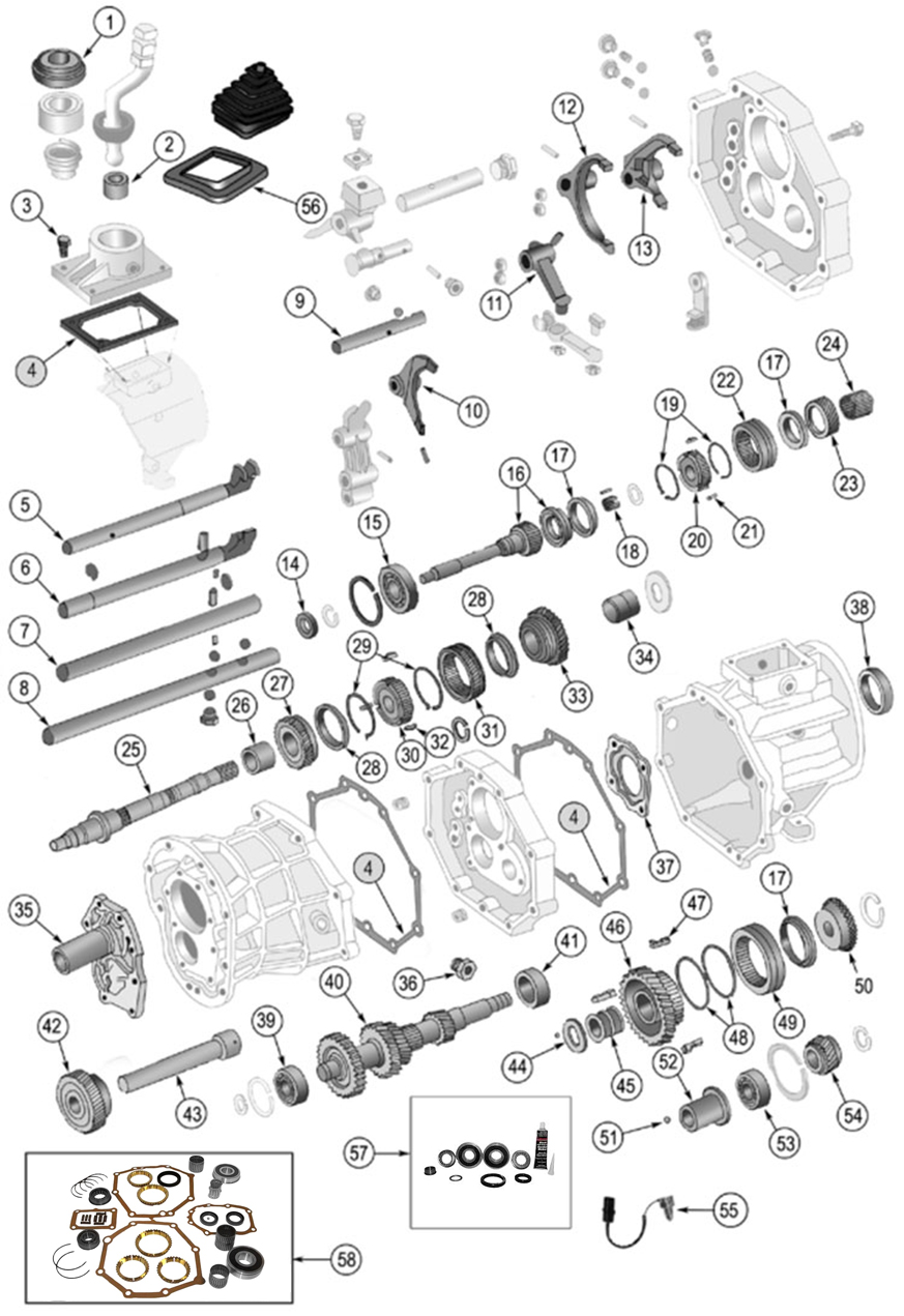 Diagrams For Jeep    Transmission Parts    Ax4  U0026 Ax5