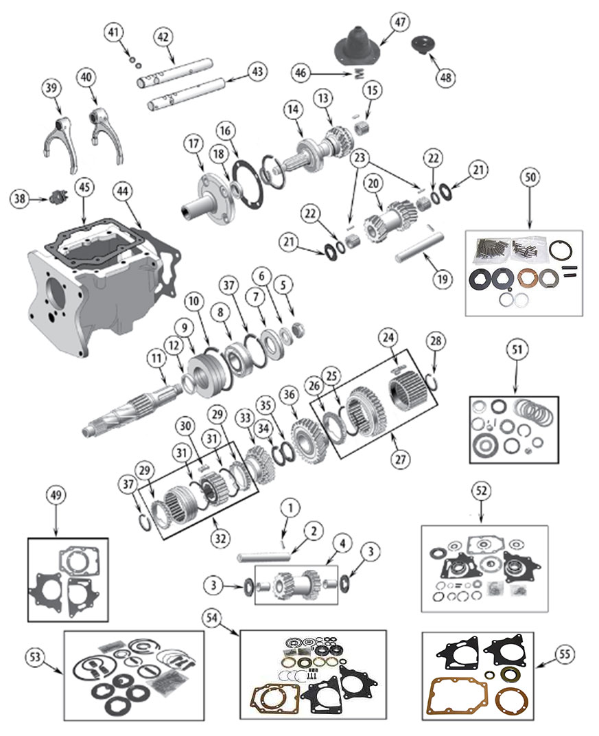 Diagrams For Jeep    Transmission Parts    Model T150
