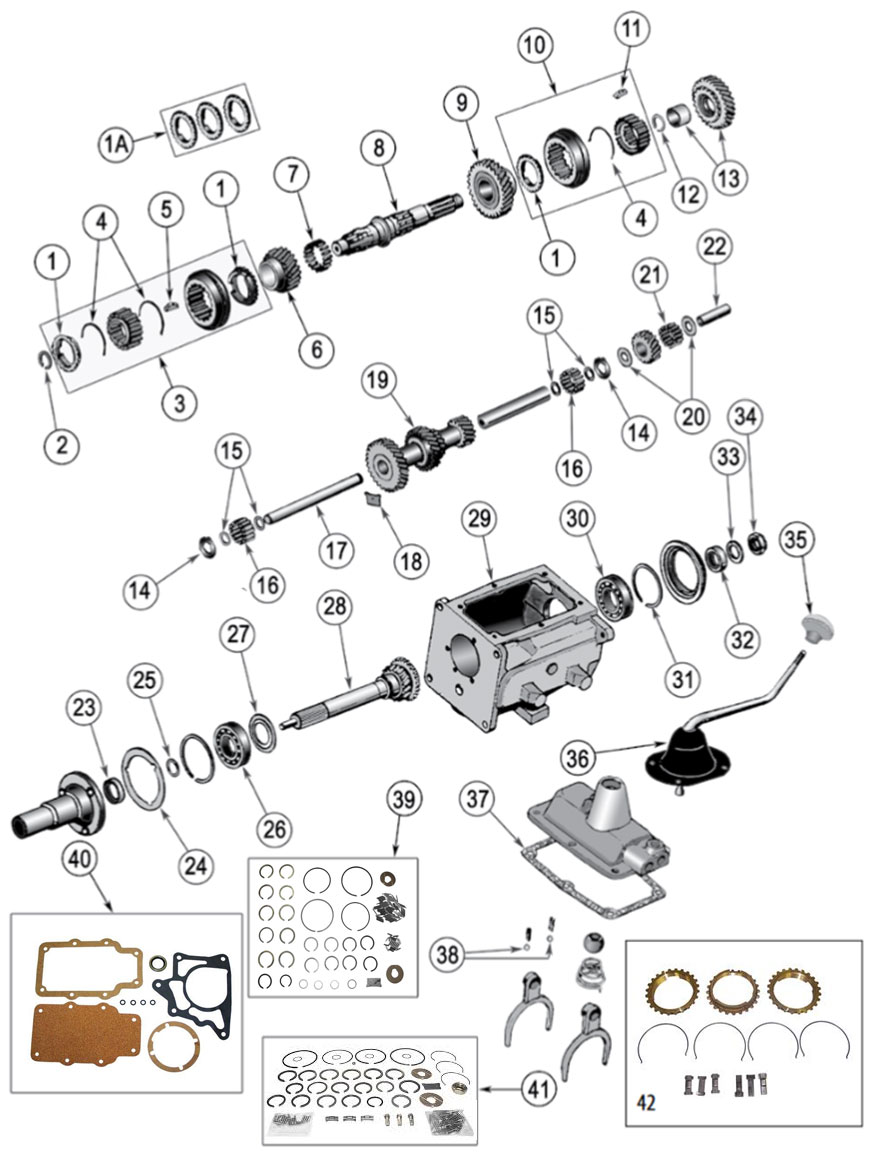 Diagrams For Jeep    Transmission Parts    Model T
