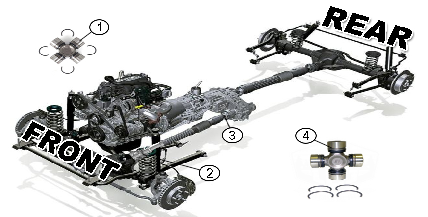 Diagrams For Jeep    Universal Joints Parts    2007
