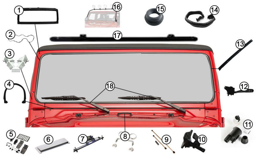 Diagrams For Jeep    Windshield Frames  U0026 Parts    Jeep Wrangler Tj  1997