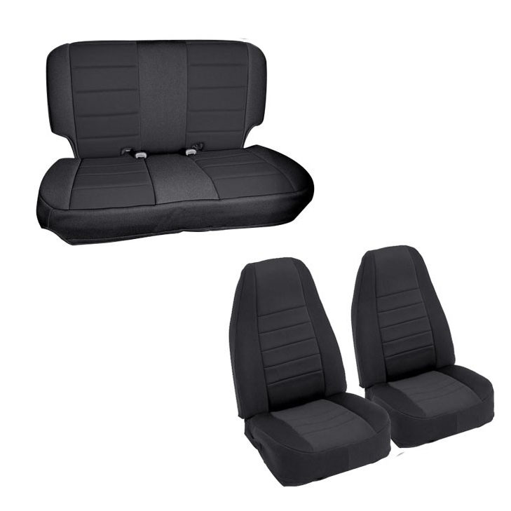 Pleasing Neoprene Seat Covers Smittybilt Front Rear Set Black 1997 2002 Jeep Wrangler Tj Dailytribune Chair Design For Home Dailytribuneorg