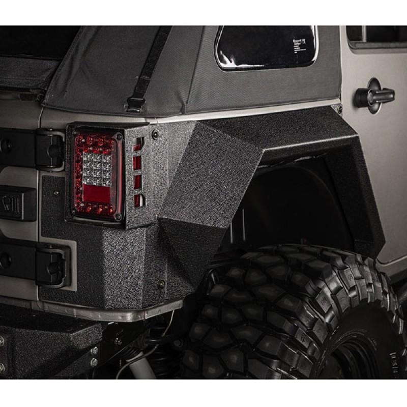 2017 Jeep Wrangler Unlimited Accessories >> Rugged Ridge Xhd Rear Armor Fenders Pair 2007 2017 Jeep Wrangler Jk 4 Door