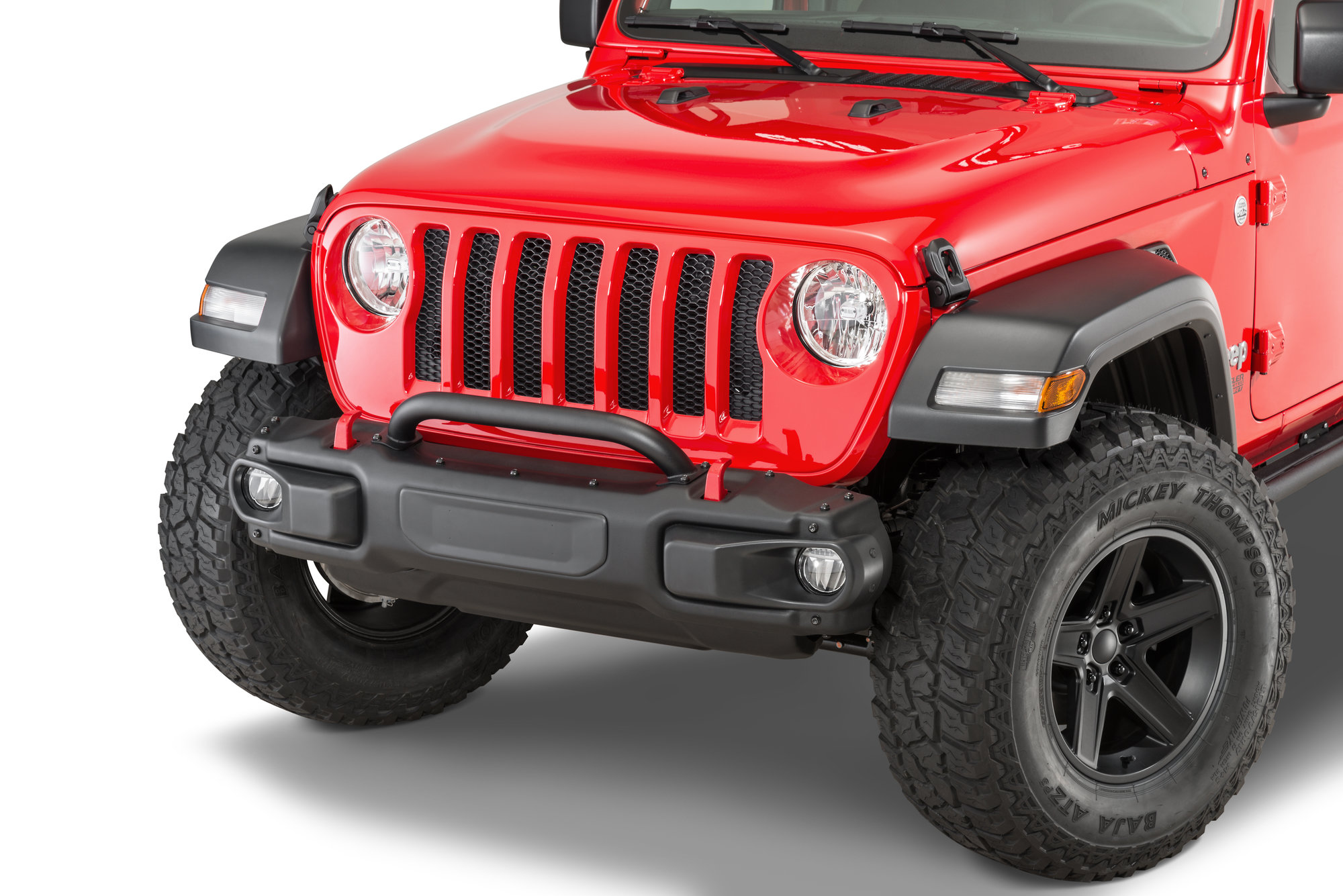 jeep jl bumper wrangler guard rubicon mopar front winch steel grille stubby light gladiator plate led offroad factory grill skid