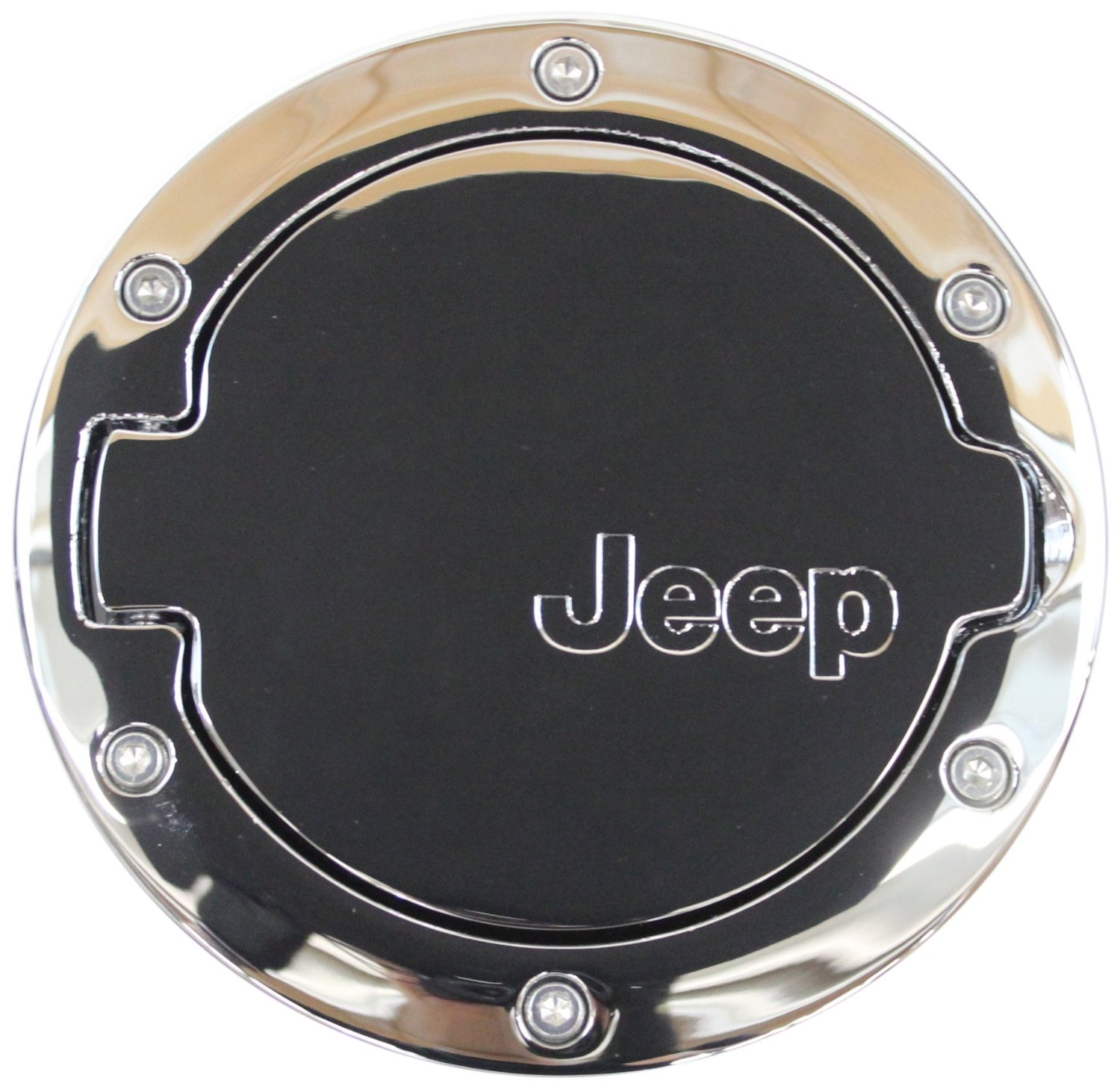 Products Fuel Gas Cap Door Cover With Jeep Logo Chrome 2002 Wrangler Filter Jk 4